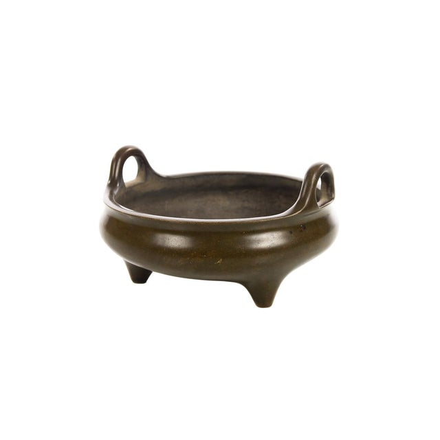 Chinese Patinated Bronze Censer - Image 4 of 7