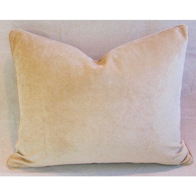 Image of Designer Teal-Sea Mist Greek Key Velvet Pillow