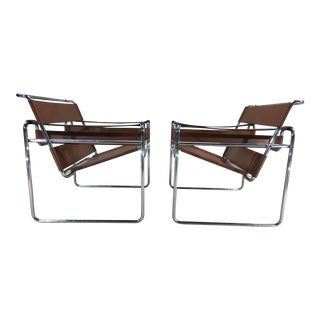 Marcel Breuer for Stendig Wassily Chairs - A Pair