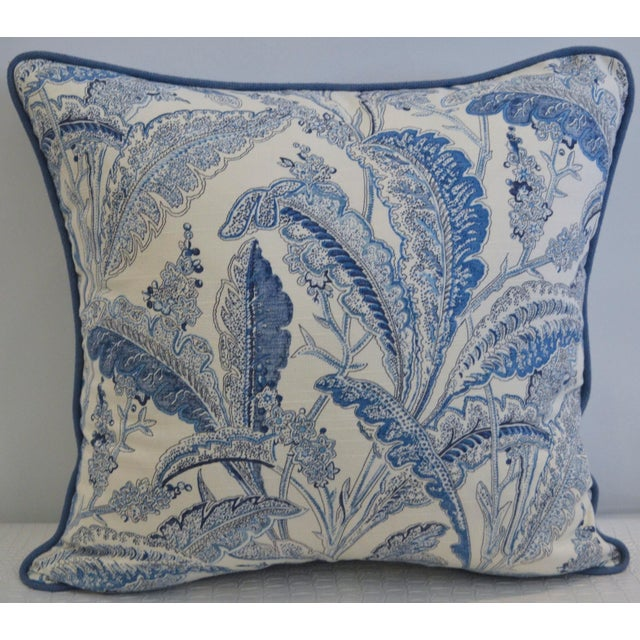 Blue & White Paisley Pillow - Image 2 of 3