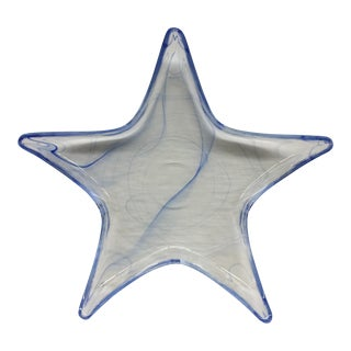 Murano Style Glass Star Shaped Tray