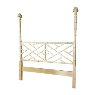 Chippendale Faux Bamboo High Post Queen Headboard