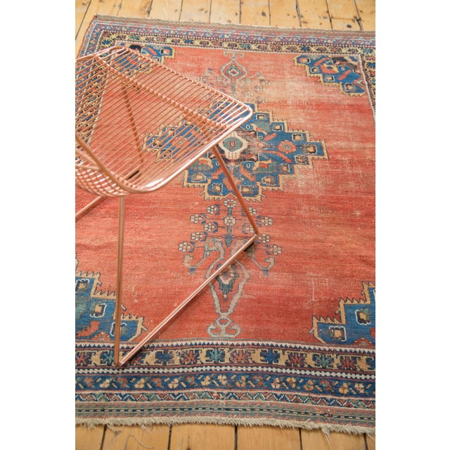 "Antique Afshar Distressed Rug- 4'5"" x 5'11"" - Image 6 of 7"