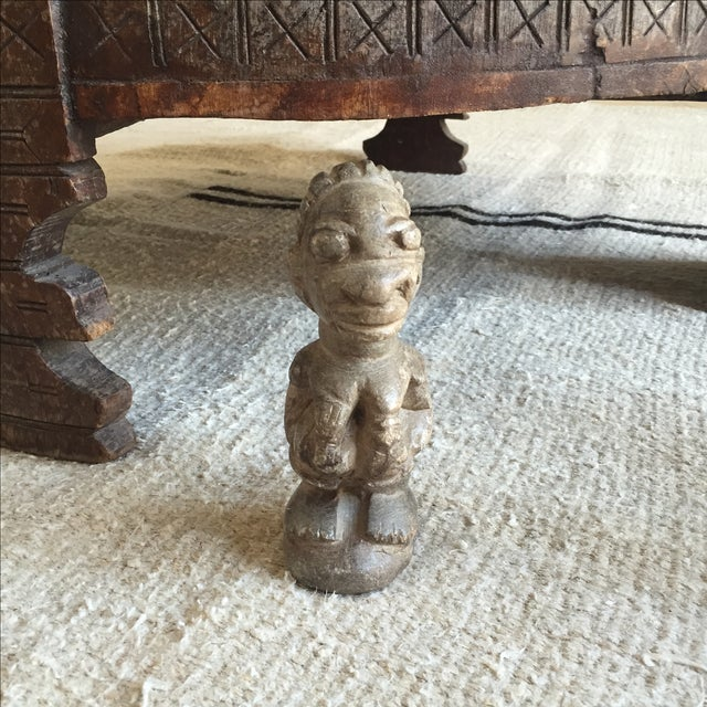 Vintage african carved stone fertility statue chairish
