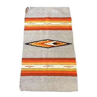 Vintage Southwestern Wool Rug - 2′2″ × 3′11″
