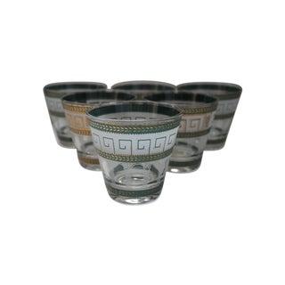 Culver Greek Key Cocktail Glasses - Set of 6