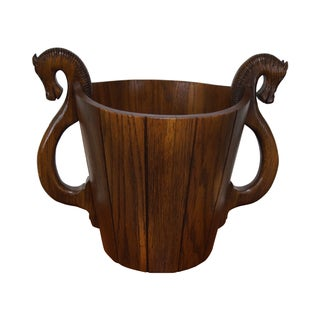 Romweber Viking Oak Horsehead Waste Basket