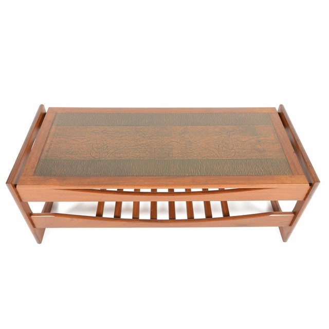G Plan Copper Egyptian Relief Teak Coffee Table Chairish