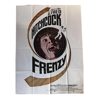 Vintage French Alfred Hitchcock Film Poster 'Frenzy'