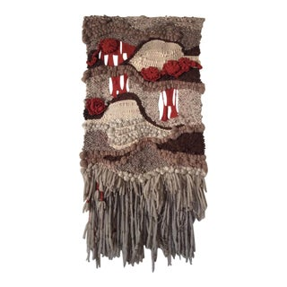 "Boho Woven ""Kings Canyon"" Wall Hanging by June Manning 1978"