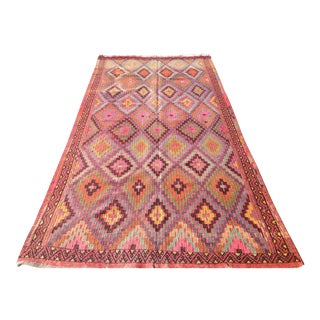 Vintage Turkish Kilim Rug - 5′5″ × 10′10″