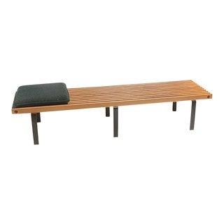 George Nelson Style Wood Slat Bench