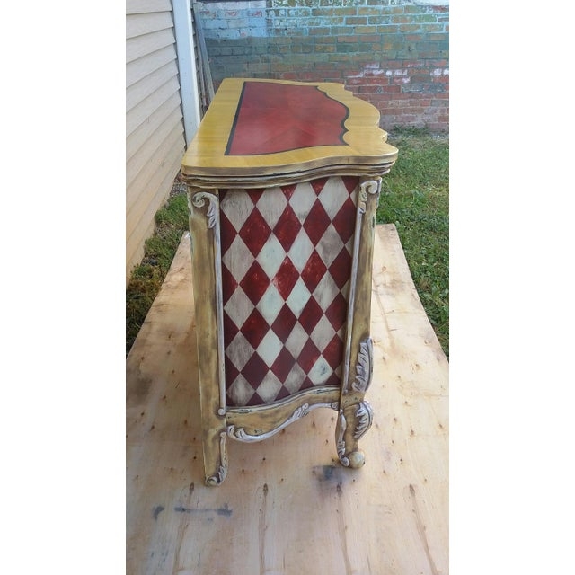 Hand Painted Harlequin French Dresser - Image 9 of 9