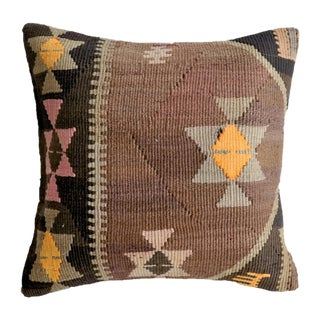 Vintage Amber Turkish Kilim Pillow Cover