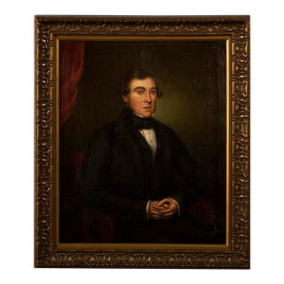 "An Antique English painting, ""A Regency Gentleman"", an oil on canvas circa 1820"