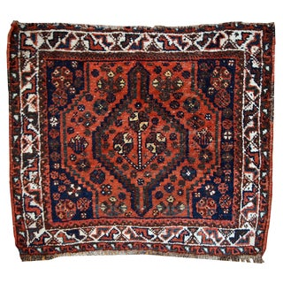 1930s Hand Made Antique Persian Shiraz Bag Face