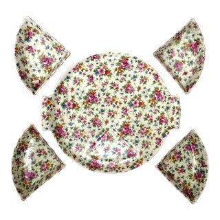 Rose Chintz Plate - Set of 5