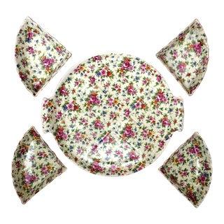 Rose Chintz Plate - Set of 5