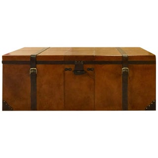 Rectangular Leather Manchester Storage Trunk Chest