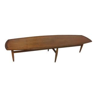 1950's Drexel Mid-Century Surfboard Table