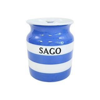Vintage English Cornishware Sago Canister