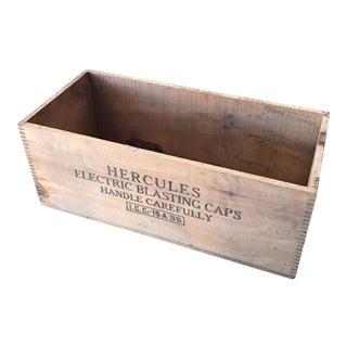 """Hercules Electric Blasting Caps"" Wood Box"