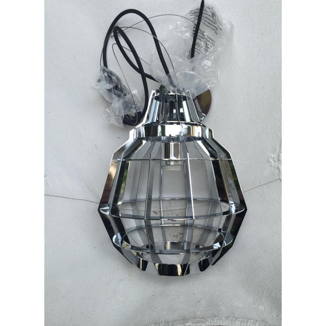 Cage Pendant Light - a Pair - Image 3 of 6