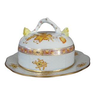 Herend Chinese Floral Butter Dish