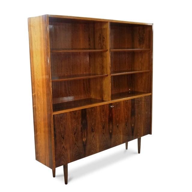 Original Danish Mid Century Hundevad Rosewood Bookcase - Image 3 of 9