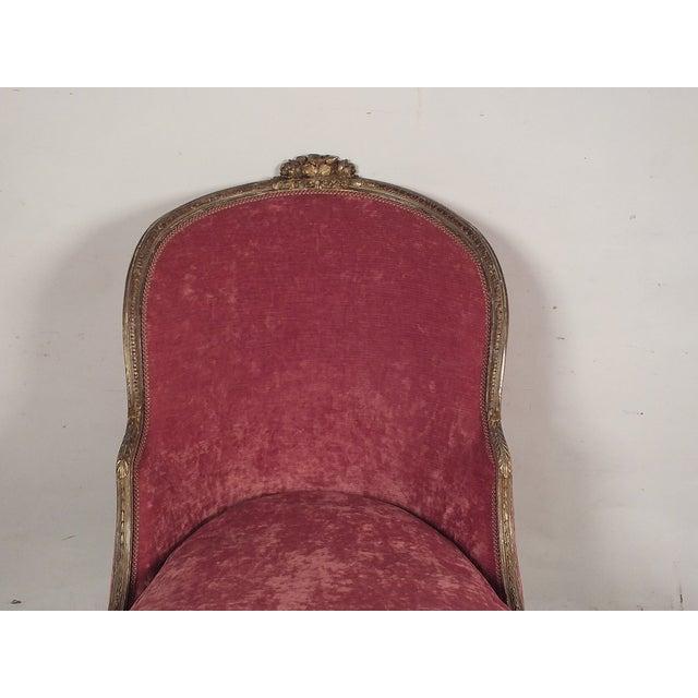 19th C. Style Giltwood Gondola Chaise Lounge - Image 6 of 10