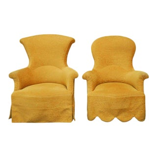 His and Hers Upholstered Armchairs by Rose Tarlow - A Pair