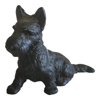 Vintage Iron Black Scottie Dog