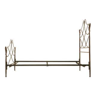 Vintage Queen Size, Iron Bed in a Gilbert Poillerat Style