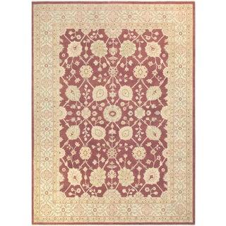 Kafkaz Peshawar Muriel Brown/Ivory Wool Rug - 10'2 X 13'9