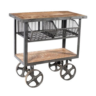Industrial Two-Drawer Trolley Cart