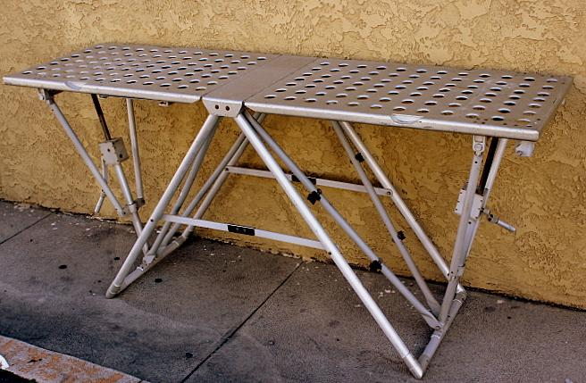 Industrial Folding Console Table   Image 2 Of 4