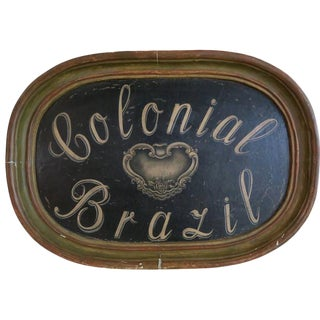 1930's Painted Sign Colonial Brazil