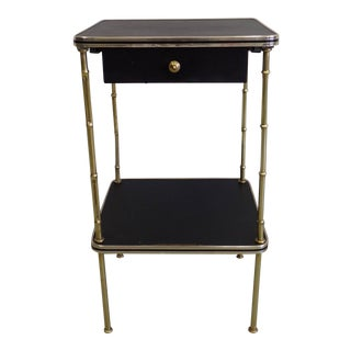 Rare Pair of Side Tables or Nightstands by Jacques Adnet
