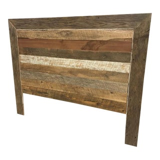 Reclaimed Barn Wood Queen Headboard
