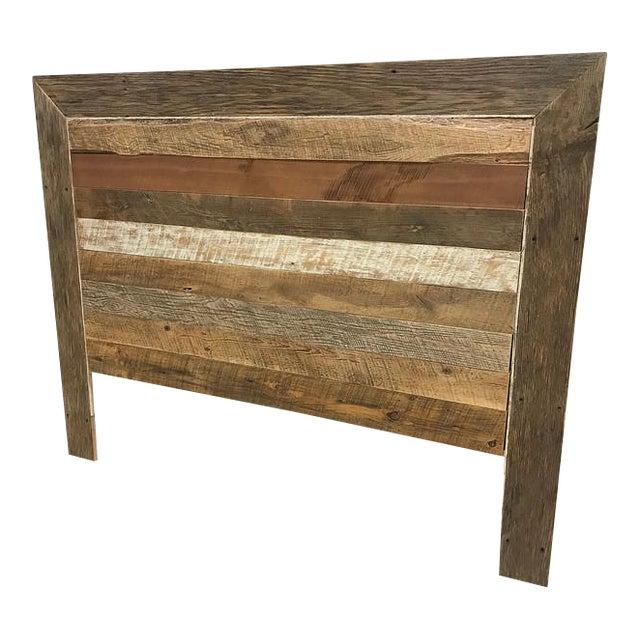 reclaimed barn wood queen headboard chairish. Black Bedroom Furniture Sets. Home Design Ideas