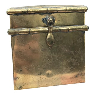 Vintage Brass & Wooden Interior Box