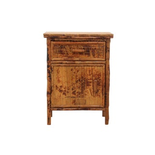 Bamboo Side Table Cabinet