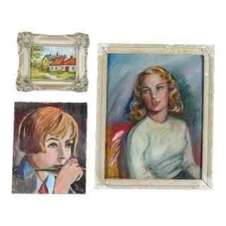 Gallery Wall Art Paintings - Set of 3