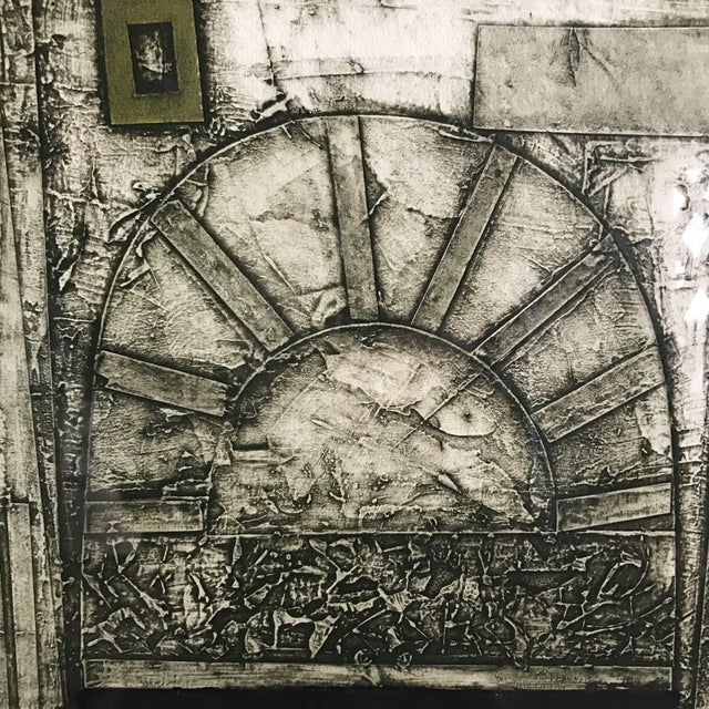 John Ross Architectural Collagraph - Image 6 of 10