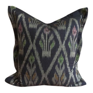 Indigo Ikat Handwoven Thailand Pillow
