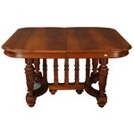 Image of Antique French Louis XVI Walnut Dining Table