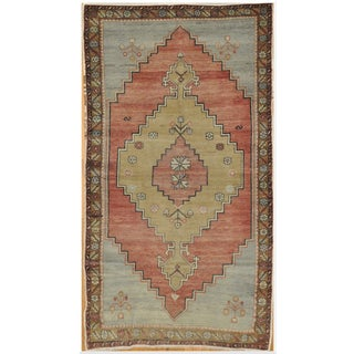 Vintage Hand-Knotted Tribal Rug - 4′ × 7′5″