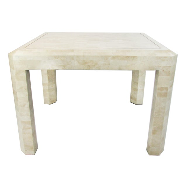 Tessellated Limestone Side Tables, Pair - Image 2 of 7