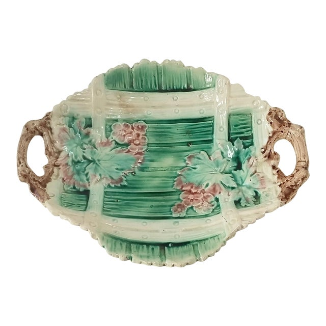 Image of Antique Majolica Serving Dish