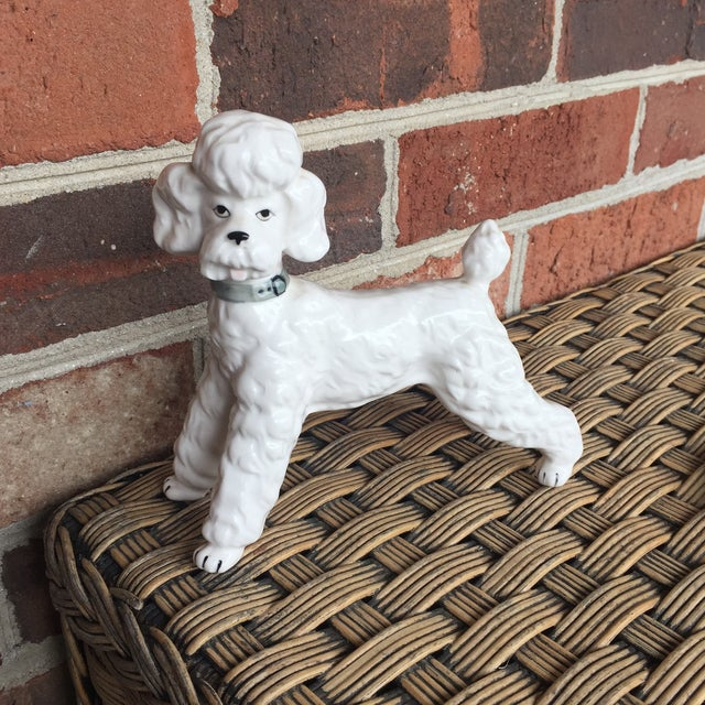 Vintage Ceramic Staffordshire Style Poodle Dog Figurine - Image 2 of 11